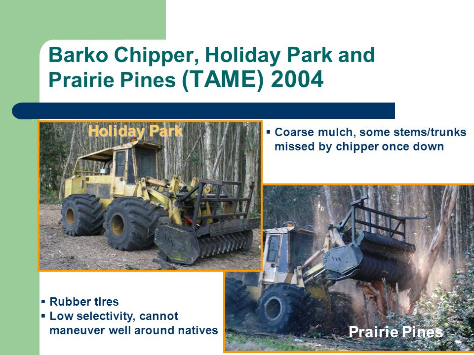Barko Chipper, Holiday Park and Prairie Pines (TAME) 2004