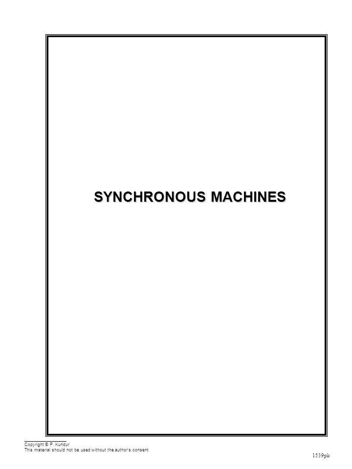 Synchronous Machines Outline Physical Description Mathematical Model