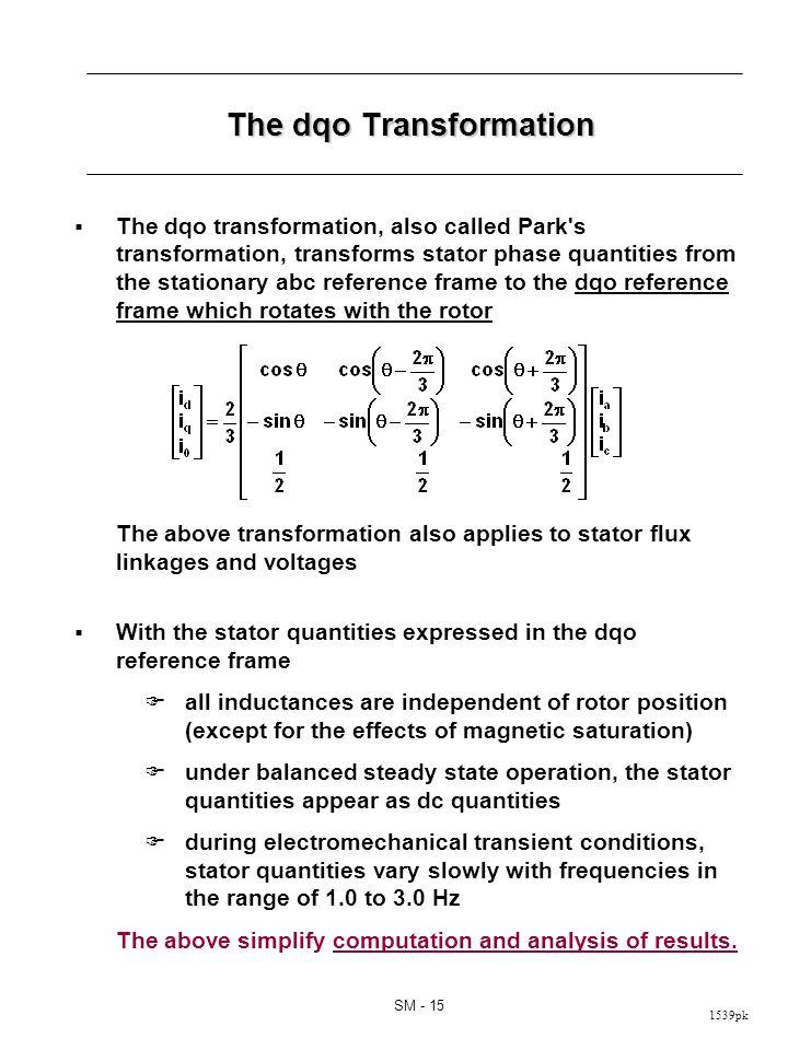 Physical Interpretation of dqo Transformation