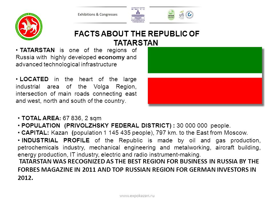 FACTS ABOUT THE REPUBLIC OF TATARSTAN
