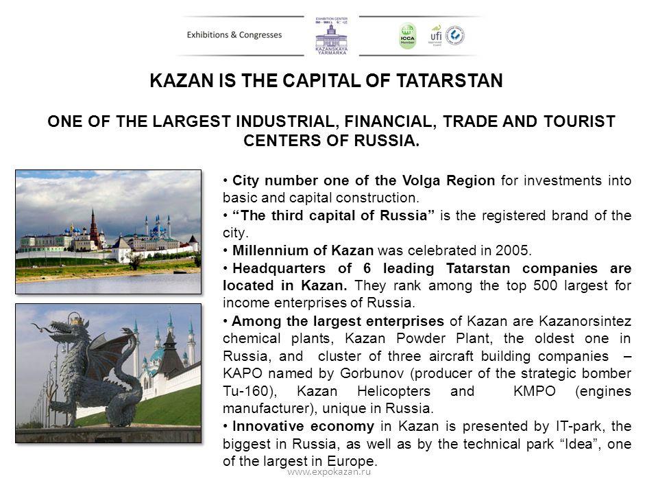 KAZAN IS THE CAPITAL OF TATARSTAN