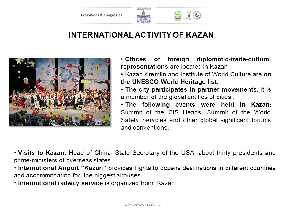 INTERNATIONAL ACTIVITY OF KAZAN