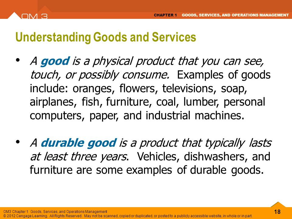Understanding Goods and Services