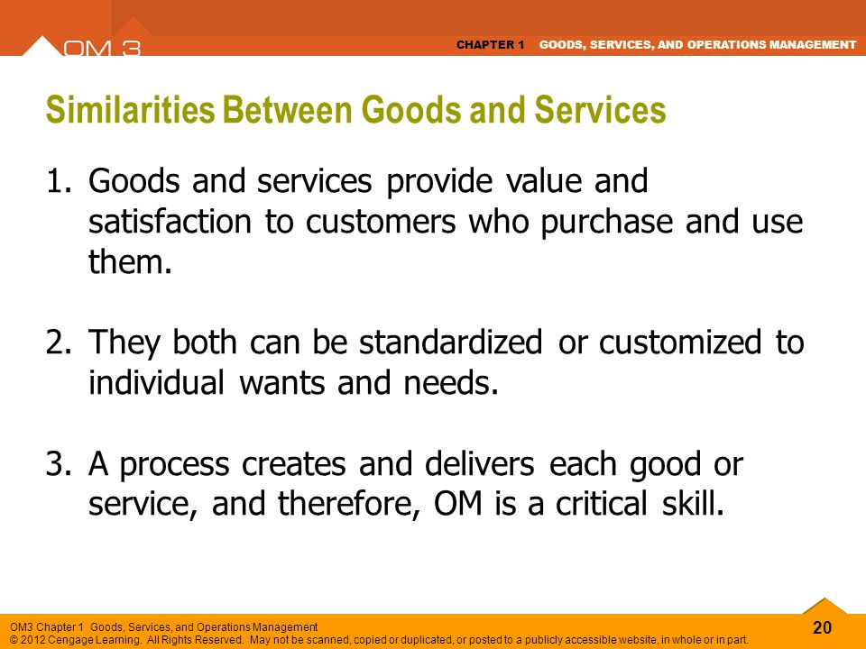 Similarities Between Goods and Services