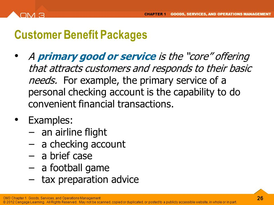 Customer Benefit Packages