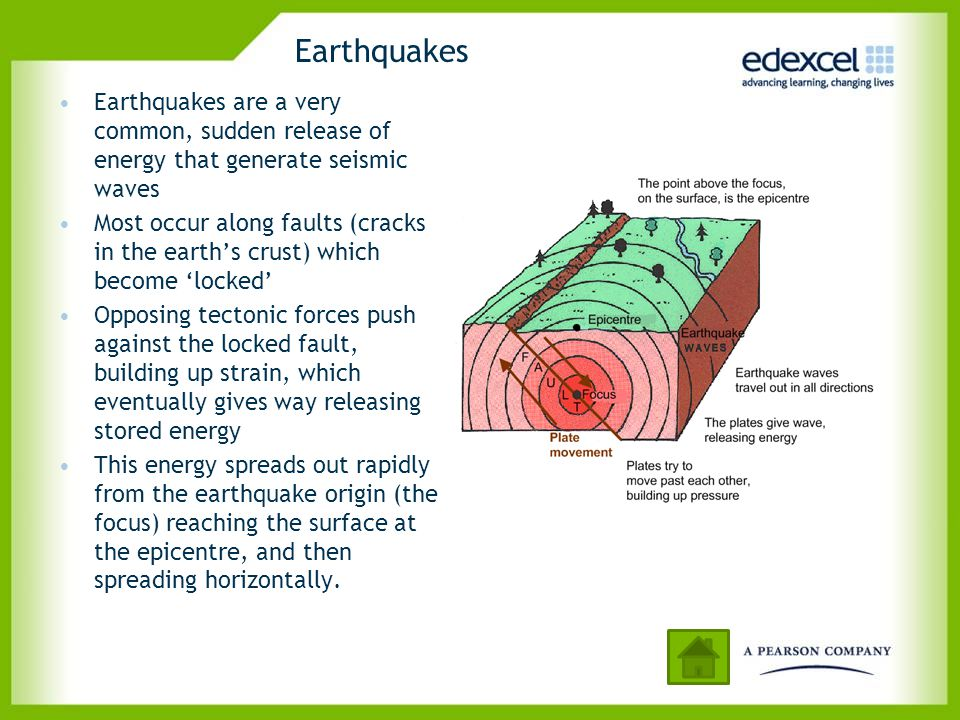 Earthquakes Earthquakes are a very common, sudden release of energy that generate seismic waves.