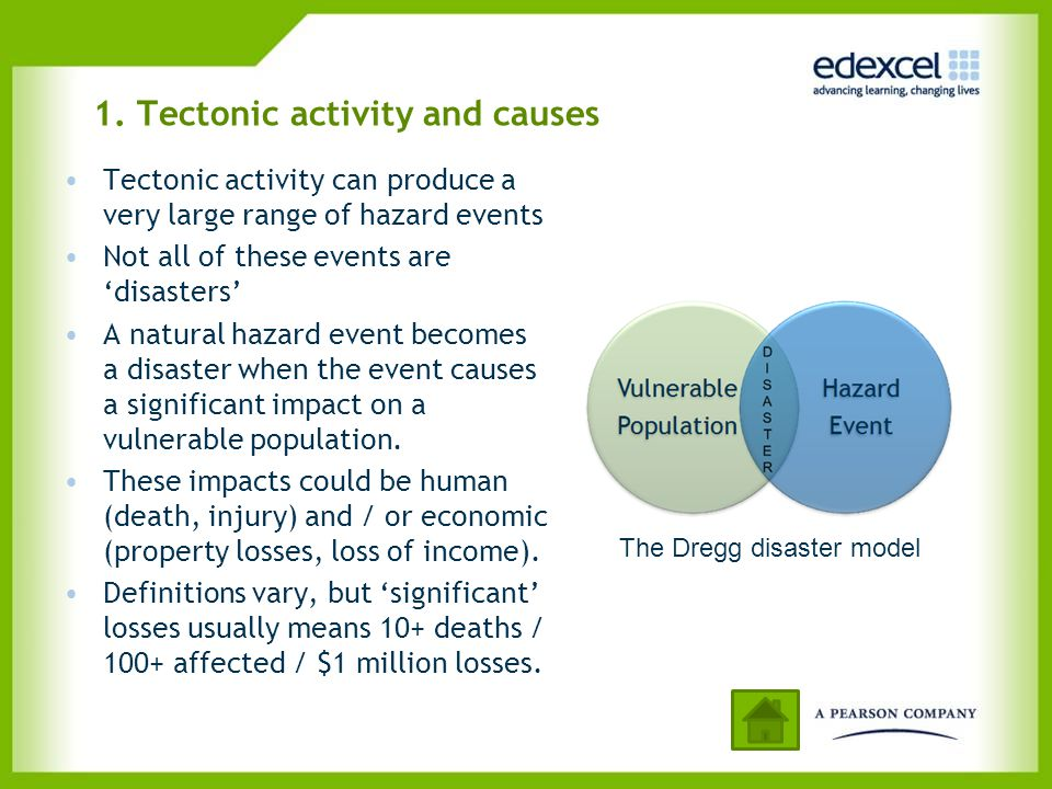 1. Tectonic activity and causes