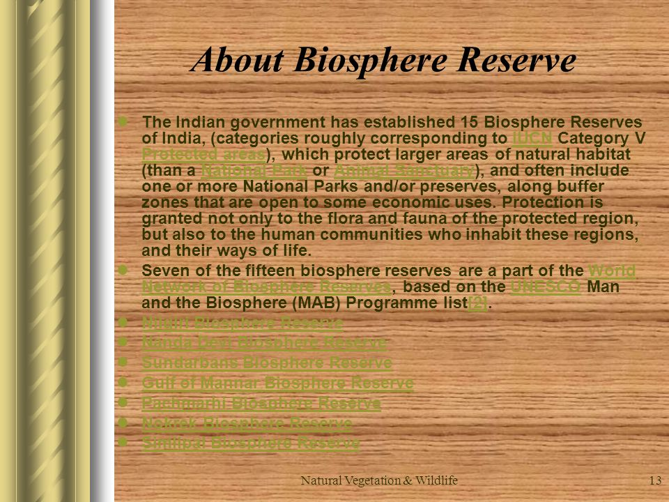 About Biosphere Reserve