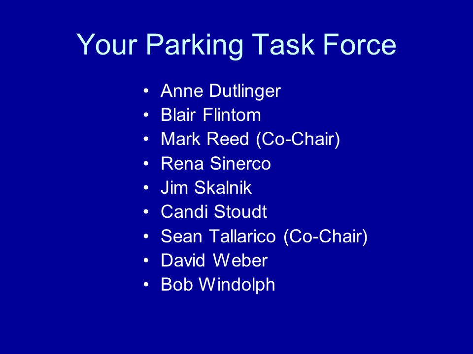 Your Parking Task Force