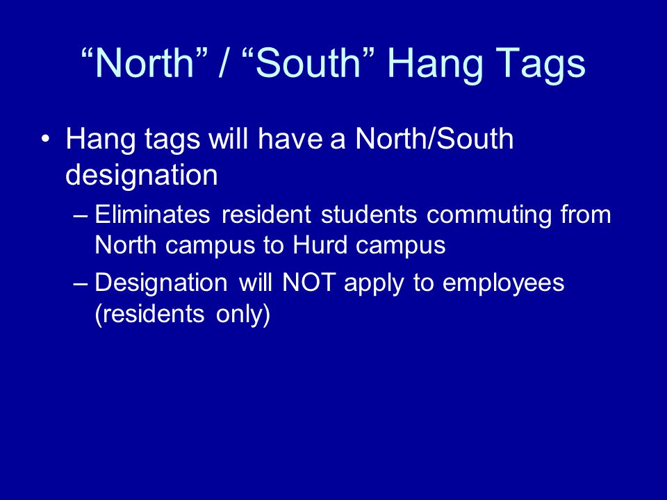 North / South Hang Tags