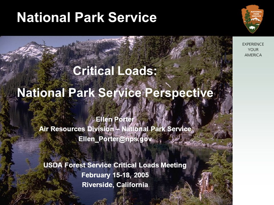National Park Service Critical Loads: