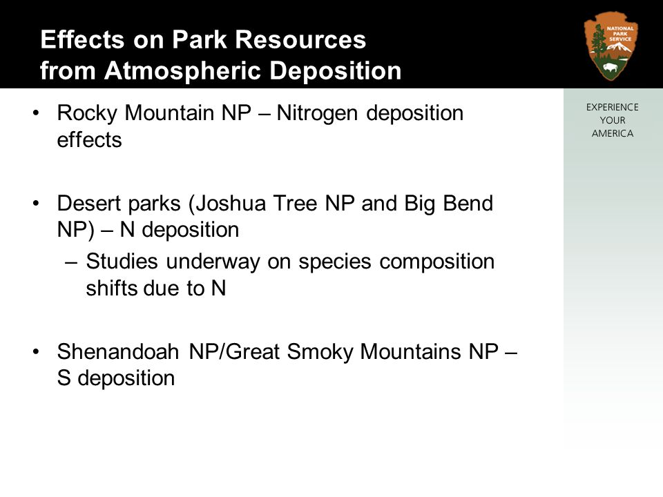 Effects on Park Resources from Atmospheric Deposition