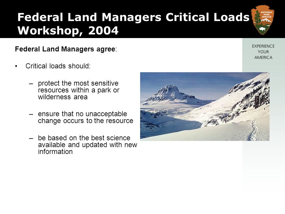 Federal Land Managers Critical Loads Workshop, 2004