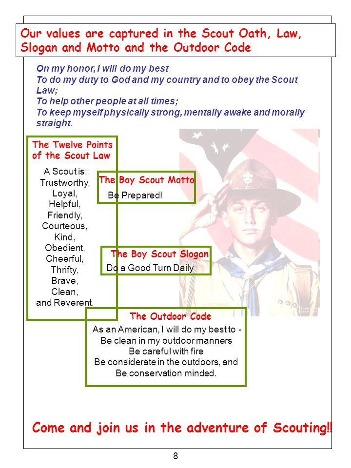 Come and join us in the adventure of Scouting!!