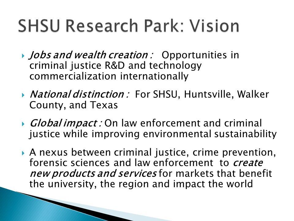 SHSU Research Park: Vision