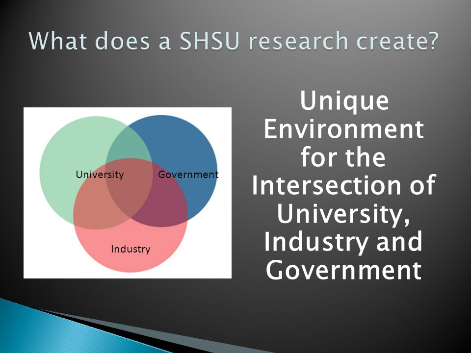 What does a SHSU research create