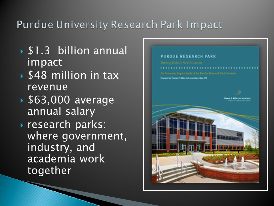 Purdue University Research Park Impact