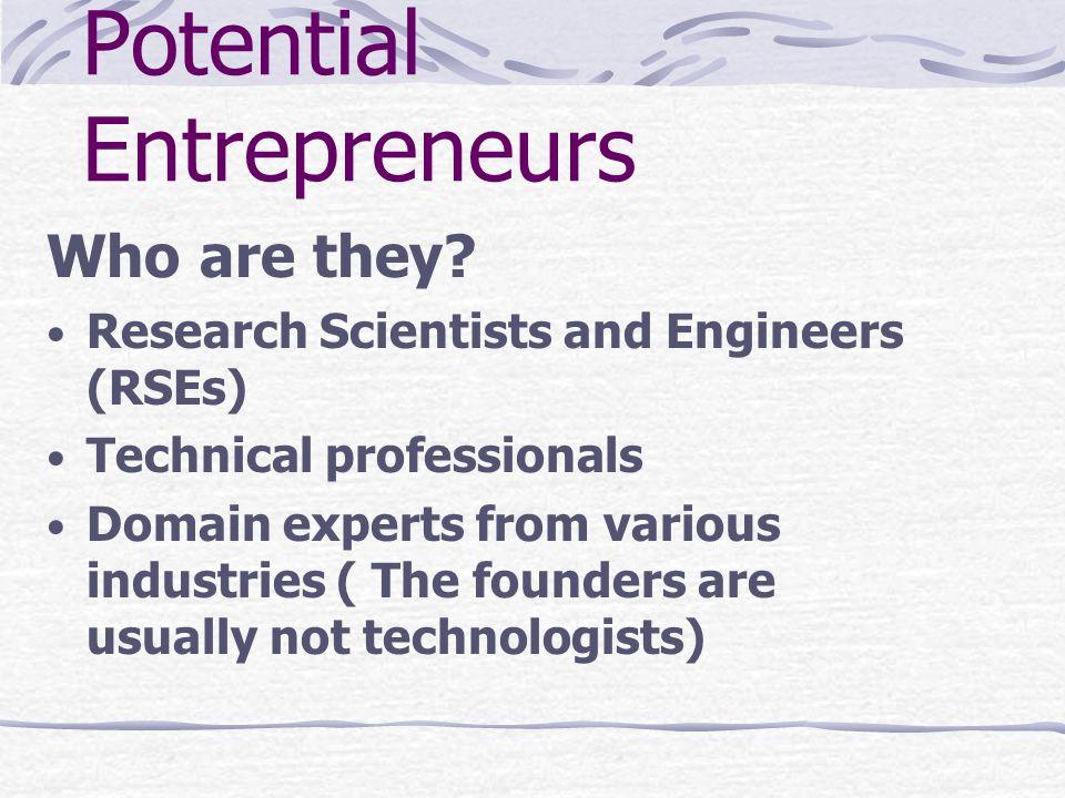 Potential Entrepreneurs
