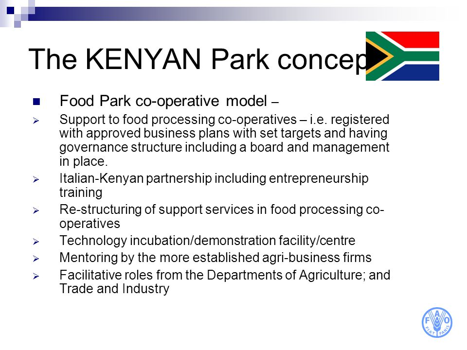 The KENYAN Park concept