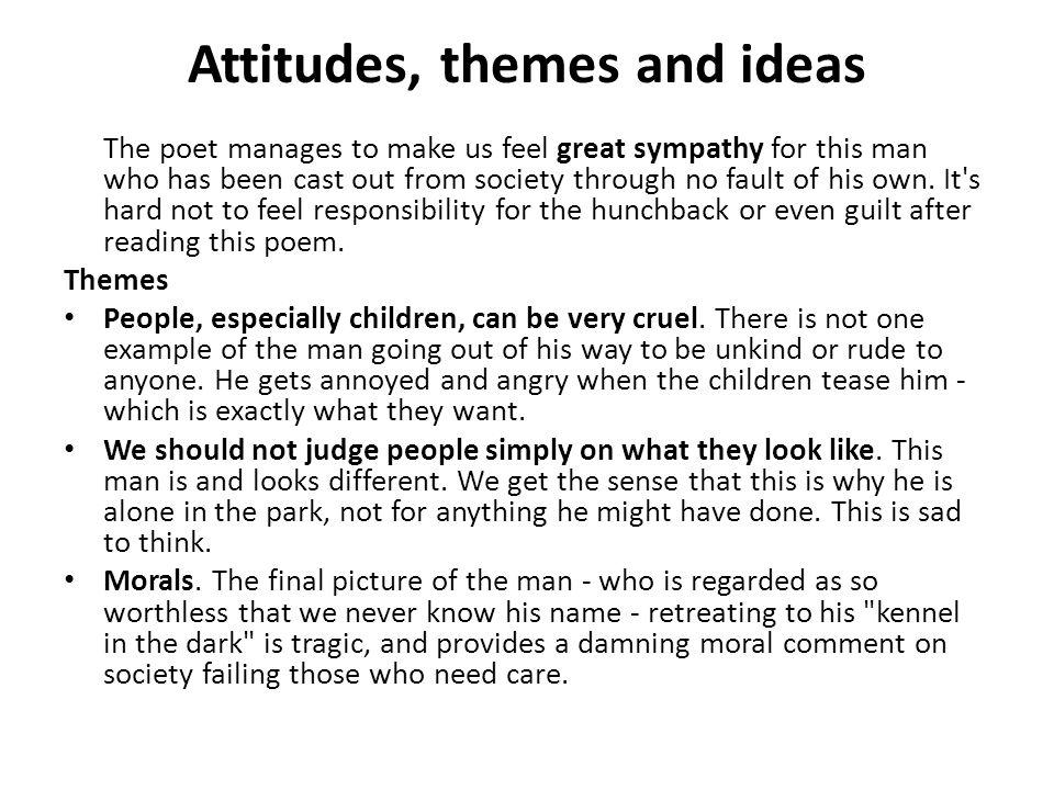 Attitudes, themes and ideas