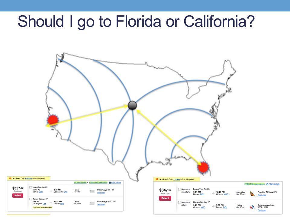 Should I go to Florida or California