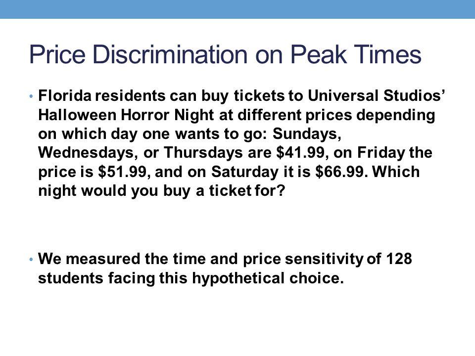 Price Discrimination on Peak Times
