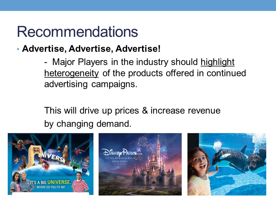 Recommendations Advertise, Advertise, Advertise!