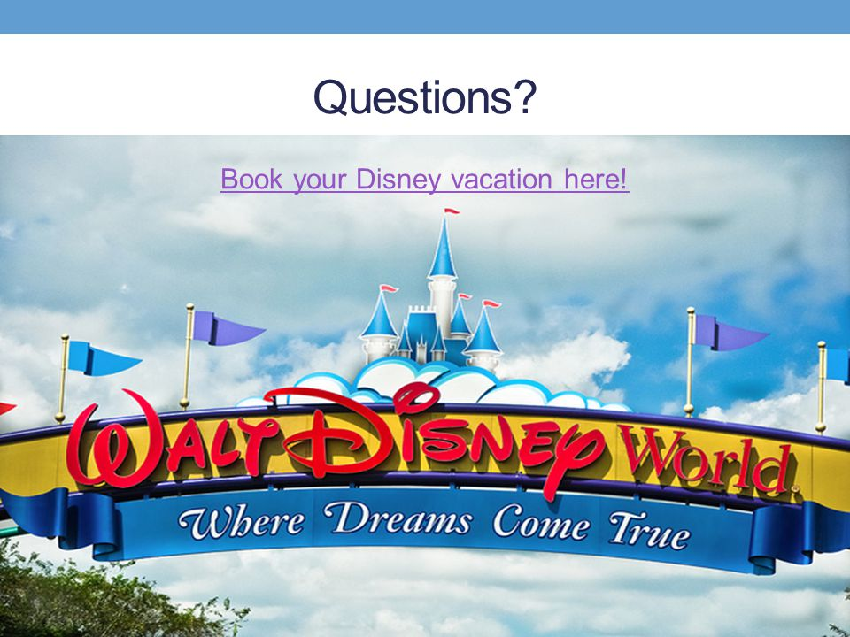 Book your Disney vacation here!