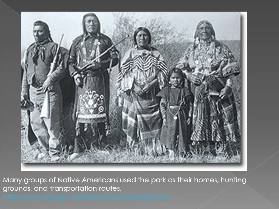 Many groups of Native Americans used the park as their homes, hunting grounds, and transportation routes.