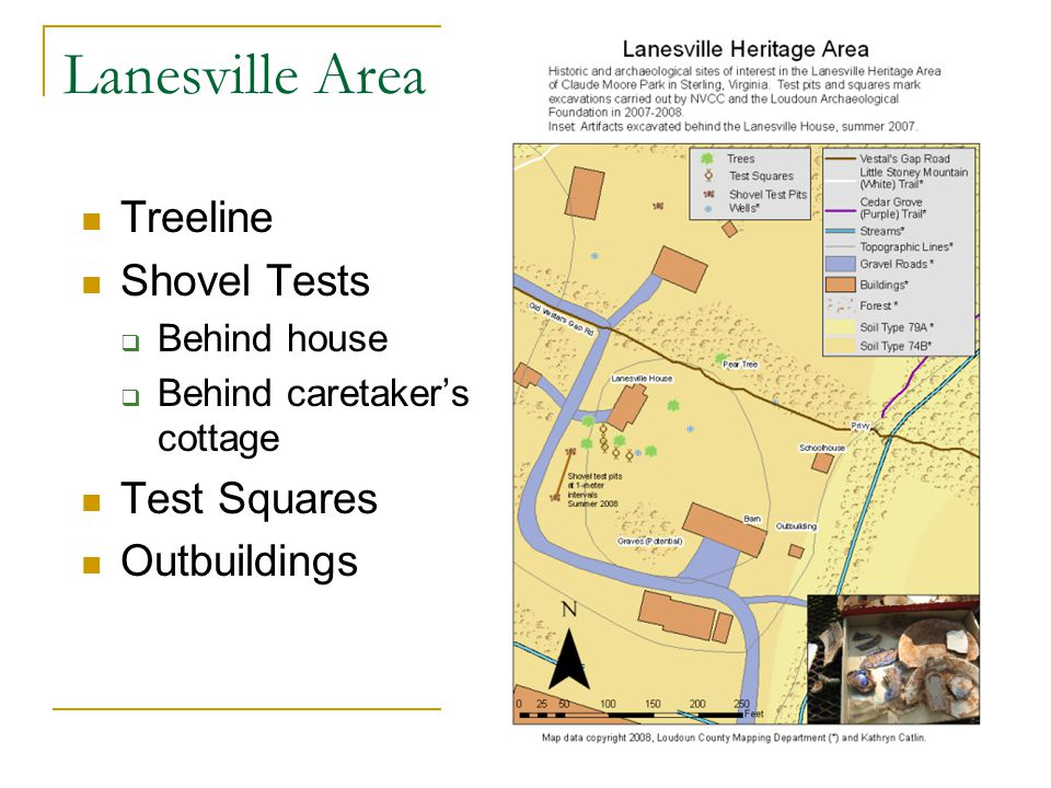 Lanesville Area Treeline Shovel Tests Test Squares Outbuildings