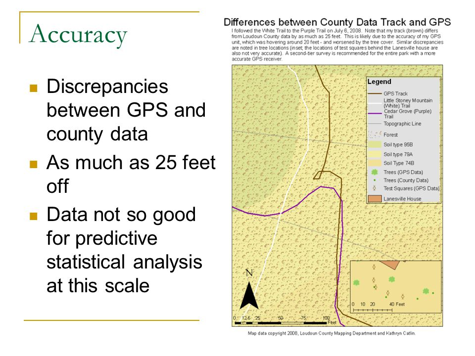 Accuracy Discrepancies between GPS and county data