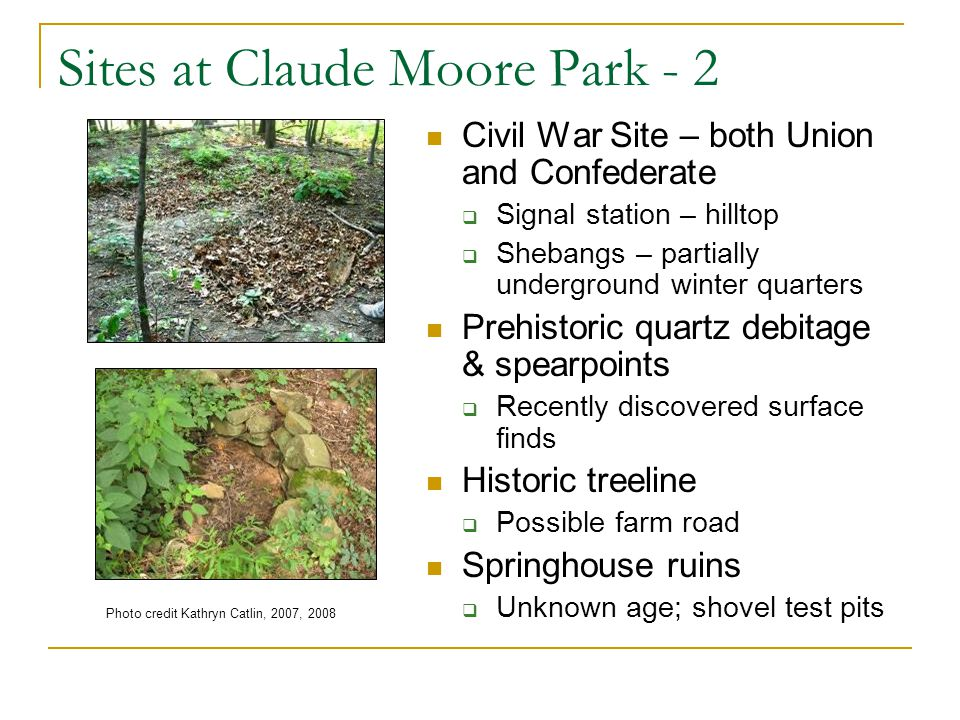 Sites at Claude Moore Park - 2
