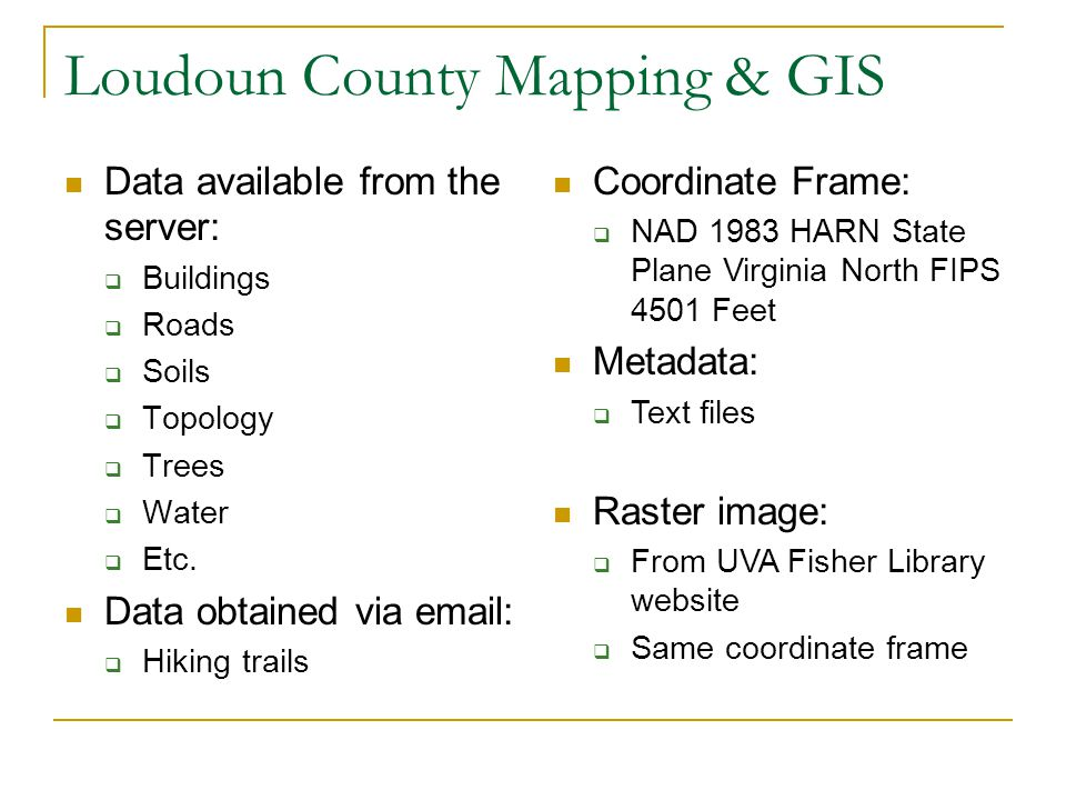 Loudoun County Mapping & GIS