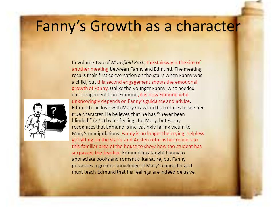 Fanny's Growth as a character