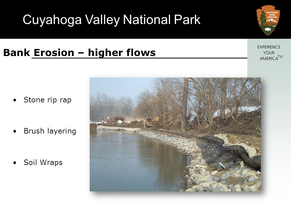 Bank Erosion – higher flows