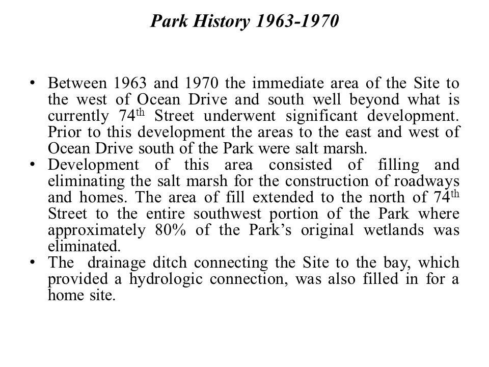 Park History 1963-1970
