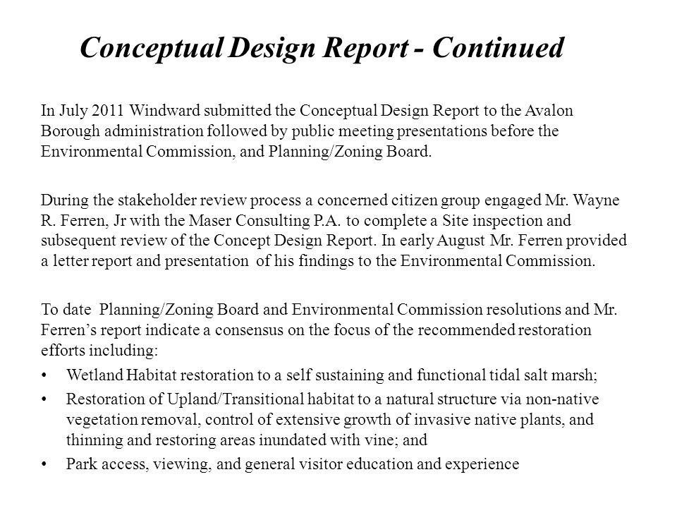 Conceptual Design Report - Continued