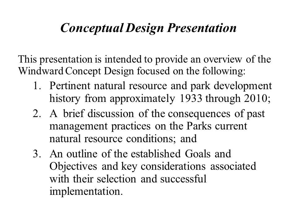 Conceptual Design Presentation