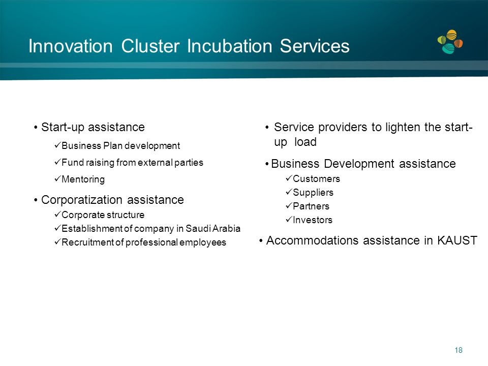 Innovation Cluster Incubation Services