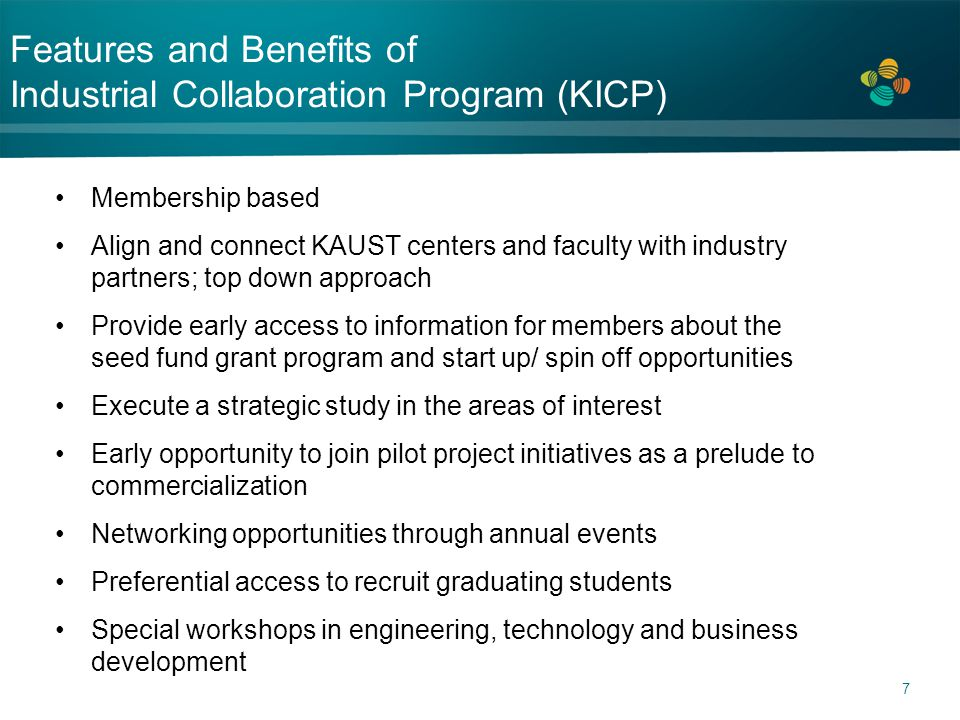 Features and Benefits of Industrial Collaboration Program (KICP)