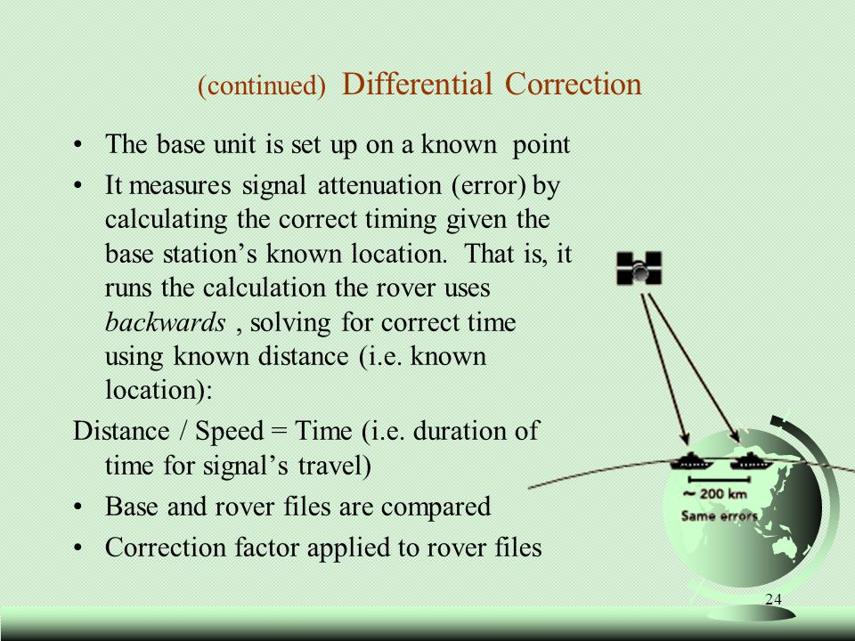 (continued) Differential Correction