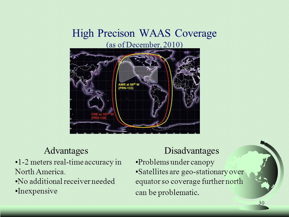 High Precison WAAS Coverage (as of December, 2010)