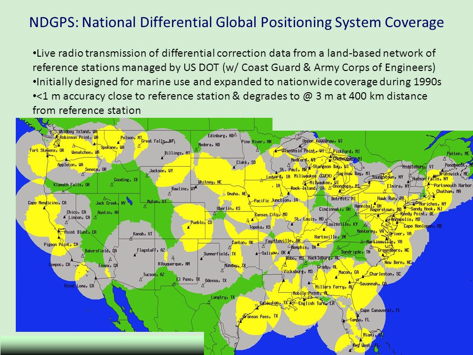 NDGPS: National Differential Global Positioning System Coverage