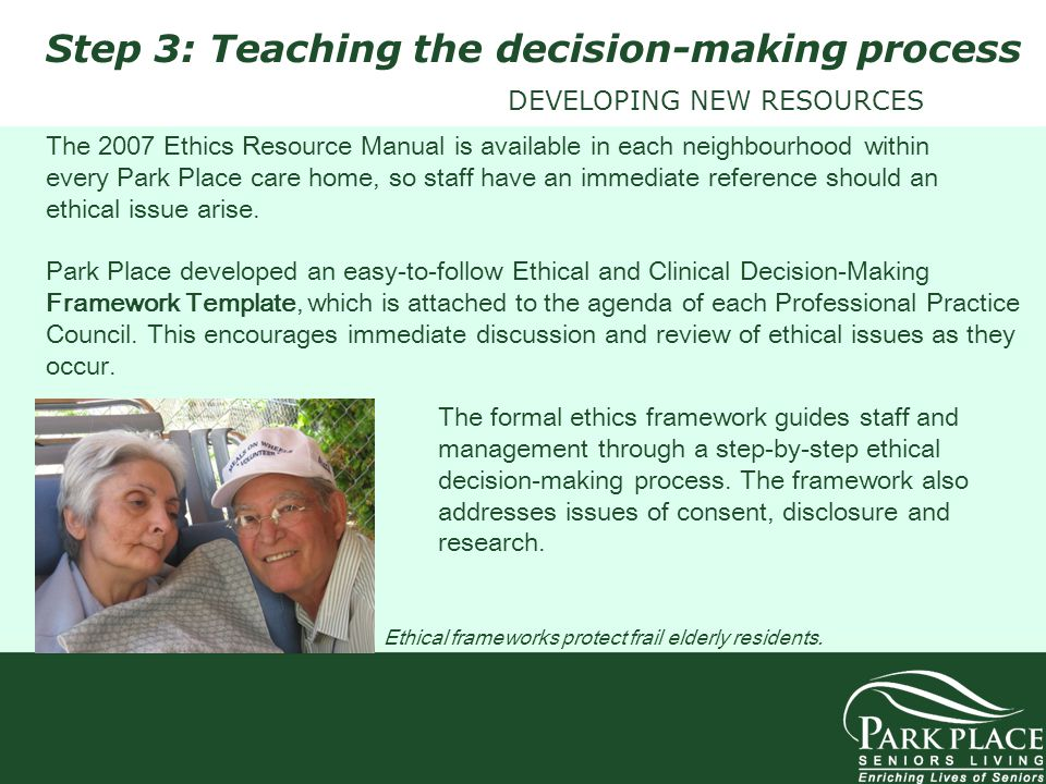 Step 3: Teaching the decision-making process