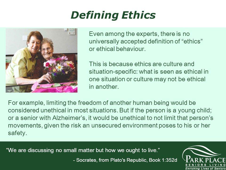 Defining Ethics