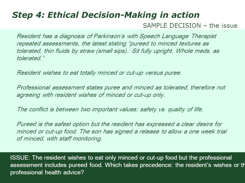 Step 4: Ethical Decision-Making in action