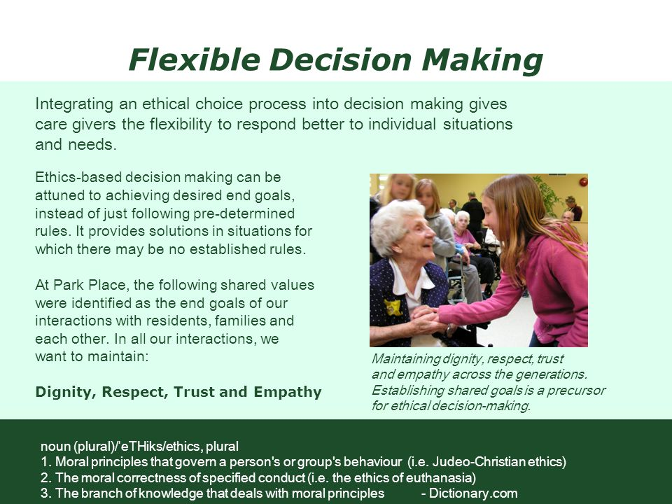 Flexible Decision Making