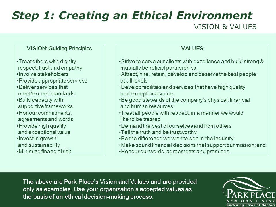 VISION: Guiding Principles