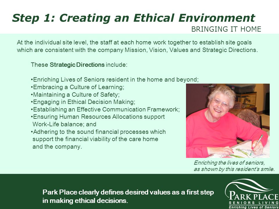 Step 1: Creating an Ethical Environment