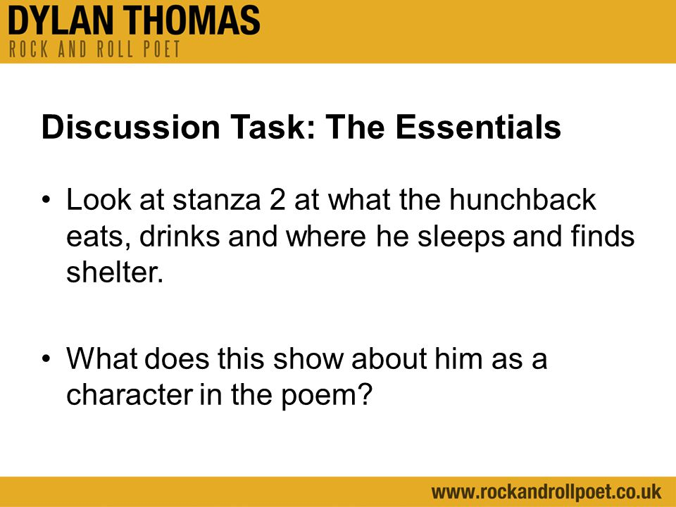 Discussion Task: The Essentials